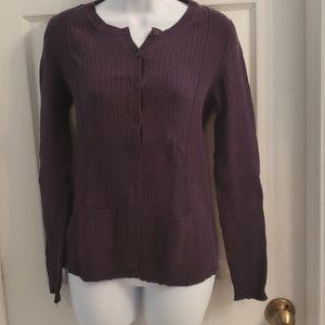 Banana Republic plum colored sweater